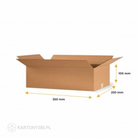 Karton klapowy 350x250x100 Paleta - 1360 szt.