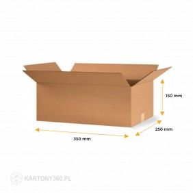 Karton klapowy 350x250x150 Paleta - 1360 szt.