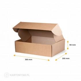 Karton fasonowy 350x250x90 Paleta - 1600 szt.