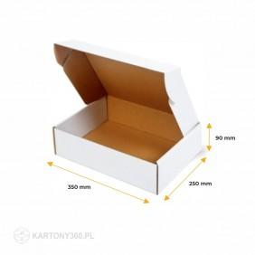 Karton fasonowy biały 350x250x90 Paleta - 1600 szt.