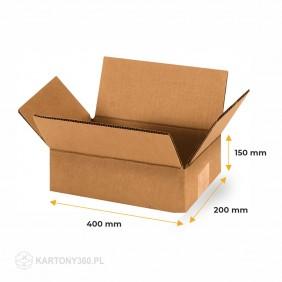 Karton klapowy 400x200x150 Paleta - 1540 szt.