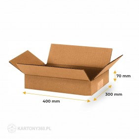 Karton klapowy 400x300x70 Paleta - 1180 szt.
