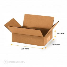 Karton klapowy 400x300x100 Paleta - 1080 szt.
