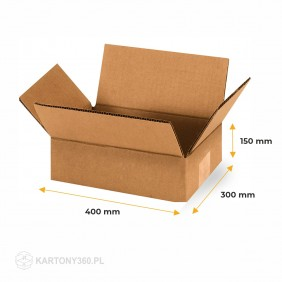 Karton klapowy 400x300x150 Paleta - 960 szt.
