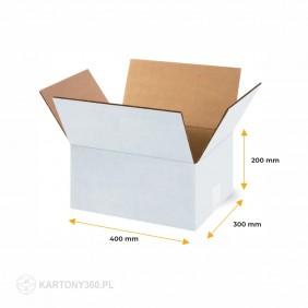 Karton klapowy biały 400x300x200 Paleta - 880 szt.