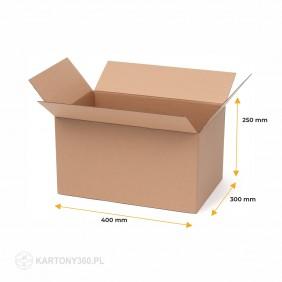 Karton klapowy 400x300x250 Paleta - 680 szt.