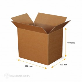 Karton klapowy 400x300x400 Paleta - 520 szt.