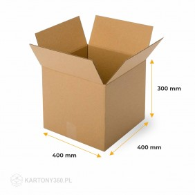 Karton klapowy 400x400x300 Paleta - 520 szt.
