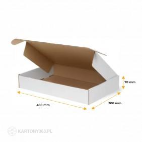 Karton fasonowy biały 400x300x70 Paleta - 1600 szt.