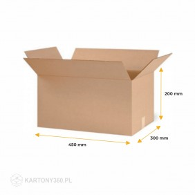 Karton klapowy 450x300x200 Paleta - 800 szt.