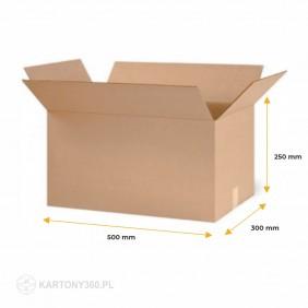 Karton klapowy 500x300x250 Paleta - 740 szt.