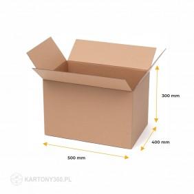 Karton klapowy 500x400x300 5-warstw. Paleta - 330 szt.