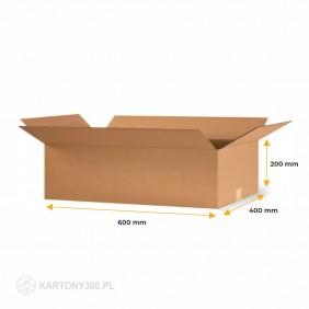 Karton klapowy 600x400x200 Fala C Paleta - 360 szt.