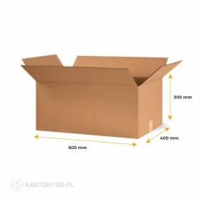 Karton klapowy 600x400x300 5-warstw. Paleta - 310 szt.