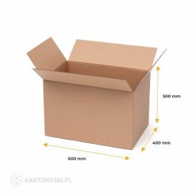 Karton klapowy 600x400x500 5-warstw. Paleta - 350 szt.