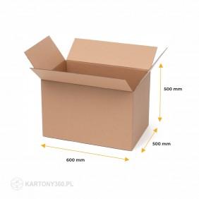Karton klapowy 600x500x500 5-warstw. Paleta - 310 szt.