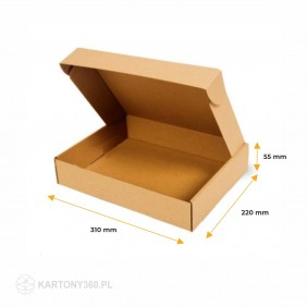 Karton fasonowy 310x220x55 Paleta - 2400 szt.